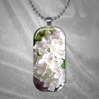 White Florals Glass Pendant