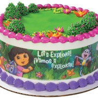 Dora the Explorer Edible Image Cake Borders by DecoPac 3 Strips by SweetnTreats on Zibbet