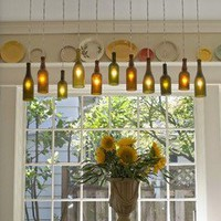 DIY Projects / A Wine Bottle Chandelier OregonLive | Apartment Therapy Re-Nest