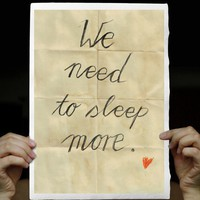 We Need To Sleep more - Typographic Illustration Art Print, handwritten words on Handmade Watercolor Paper 8x12 inches