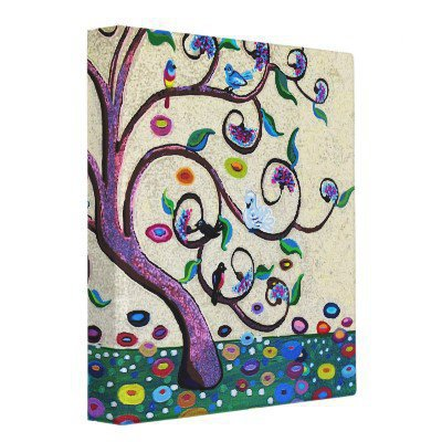 Tree of life vinyl binder from Zazzle.com