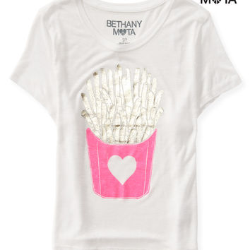 FRY LOVE CROP GRAPHIC T