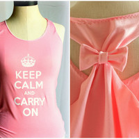 Keep Calm and Carry on Pink Tank - Small