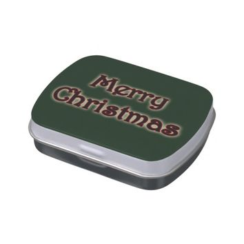 Glow Merry Christmas Candy Tin