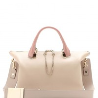 Baylee Medium tote with python leather