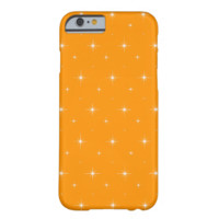 Orange And Bright Stars Elegant Pattern iPhone 6 Case