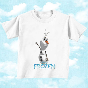 Frozen Olaf snowman for Youth T Shirt boys and T shirt Girls, children