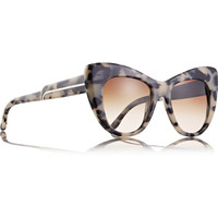 Stella McCartney - Tortoiseshell cat eye acetate sunglasses