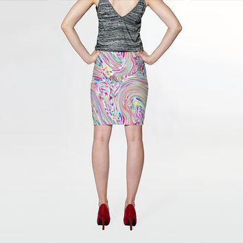 Bright Mesh Skirt by Ornaart (Fitted Skirt)