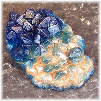 Sapphire Blue Geode  Glycerin Soap Low Crystal Formation