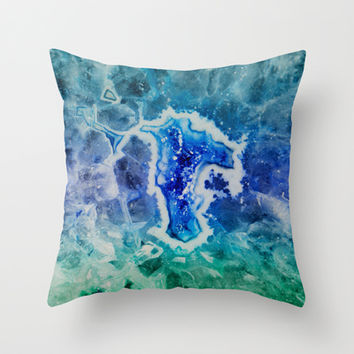 MINERAL MAZE Throw Pillow by Catspaws | Society6
