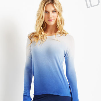 LLD Long Sleeve Open-Back Dip-Dye Top