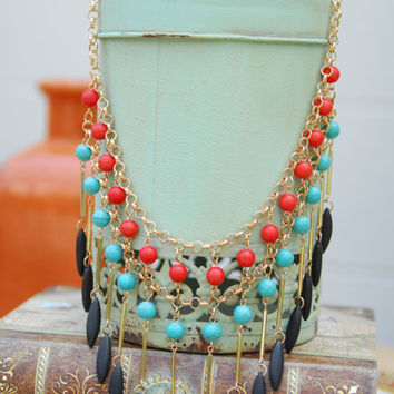 Tribal Statement Necklace - Lotus Boutique