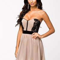 Lace Bandeau Skater Dress