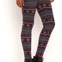 Multicolor Tribal Stripe Leggings