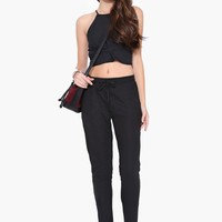 Quilted Jogger Pants