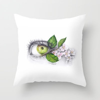 Apple of my eye Throw Pillow by eDrawings38 | Society6