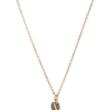 Burnished Wing Charm Necklace