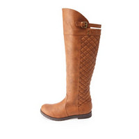 QUILTED OVER-THE-KNEE RIDING BOOTS