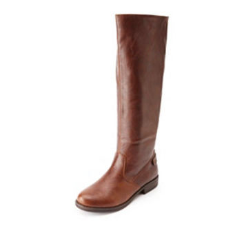 BACK-GORED KNEE-HIGH RIDING BOOTS