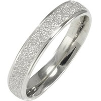 Stainless Steel Sparkle 3.8mm Band Ring - Women:Amazon:Jewelry