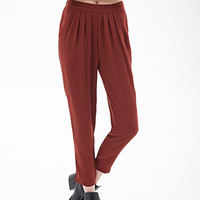 Crepe Woven Pleated Trousers
