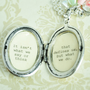 Jane Austen Quote Necklace - Women&#x27;s Locket - It isn&#x27;t what we say or think that defines us, but what we do - Graduation Gift