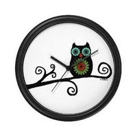 Amazon.com: Retro Owl Wall Art Clock: Home & Garden