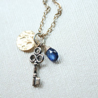 Vintage Inspired Key Necklace by OhKuol on Etsy