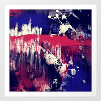 Red, White & Bruised Art Print Promoters