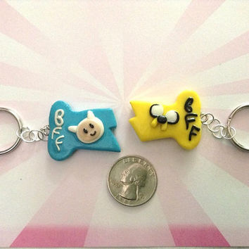 AWESOME Adventure Time- BFF Finn & Jake Keychains