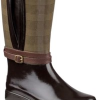 Sperry Top-Sider Shorebird Rain Boot DarkBrown/PrinceofWales, Size 8M  Women's Shoes