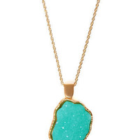 Mint Necklace - Crystal Necklace - $14.00