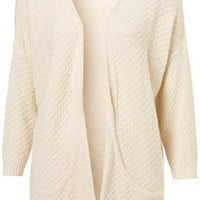 Knitted Stitch Panel Cardi