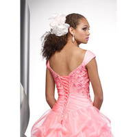 A-line Floor-length Satin and Tulle with Ruffles and Beading Prom/Evening Dress [TWL120206019] - $138.99 : wedding fashion, wedding dress, bridal dresses, wedding shoes