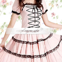 Lolita Costumes Cotton Pink Front Tie Sweet Lolita Dress [T110856] - $73.00