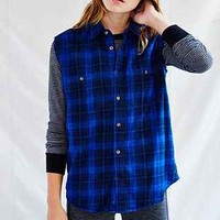 Urban Renewal Overdyed Sleeveless Flannel Shirt - Urban Outfitters