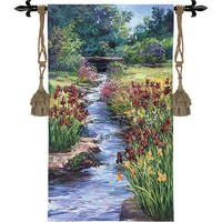 Fine Art Tapestries Brookside Garden Tapestry - Laurie Snow Hein - 3330-WH