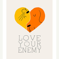 Love Your Enemy Print by ilovedoodle on Etsy