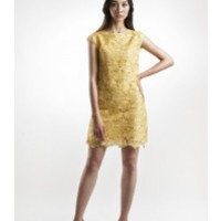 Yellow Lace Dress by IZAR