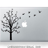 The tree--mac decal mac stricker mac pro decal mac air decal stickers macbook apple decal apple mac decal apple stickers