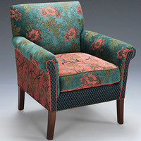 Salon Chair in Zinnea by Mary Lynn O'Shea (Upholstered Chair) | Artful Home