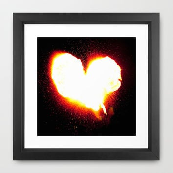 Heart of Fire Framed Art Print by Legends of Darkness Photography