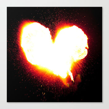 Heart of Fire Stretched Canvas by Legends of Darkness Photography