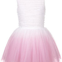 **Dip Dye Ruffle Prom Dress by Dress Up Topshop - Going Out Dresses -Dresses- Clothing