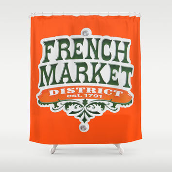 Signs: The French Market Shower Curtain by Legends of Darkness Photography
