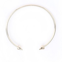 GOLD SPIKE TIP COLLAR NECKLACE