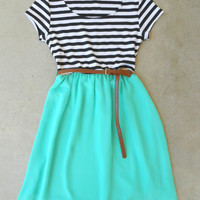 .Stripes & Mint Dress : Vintage Inspired Clothing & Affordable Dresses, deloom | Modern. Vintage. Crafted.