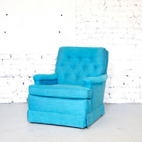Mid Century Modern Brightest Blue // Turquoise Club Chair - 50s 60s Mad Men Retro
