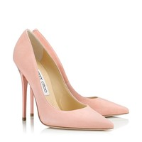 Sorbet Suede Pointy Toe Pumps | Anouk | Cruise 2013 | JIMMY CHOO Shoes